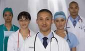 Multi-ethnic doctors — Stock Photo