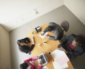 High angle view of businesspeople in a meeting — Stock Photo