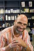 Hispanic man wearing eyeglasses — Foto Stock