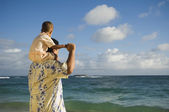Pacific Islander father with son — Stock Photo