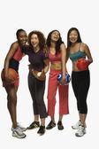 Multi-ethnic women in athletic gear — Stock Photo