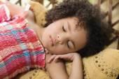 African girl sleeping — Stock Photo