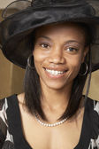 African American woman dressed for church — Stock Photo