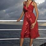 Mixed Race women wearing evening gown — Stock Photo #52070059