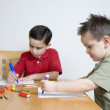 Hispanic brothers coloring — Stock Photo #52070665