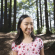Asian girl standing in woods — Stock Photo #52072255