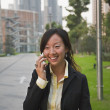 Asian businesswoman talking on cell phone — Stock Photo #52072467