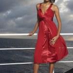 Mixed Race women wearing evening gown — Stock Photo #52072501