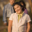 Hispanic girl with hands in pockets — Stockfoto #52074271
