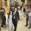 Young Hispanic couple in evening wear — Stock Photo #52075459
