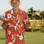 African man wearing Hawaiian shirt — Stock Photo #52076247