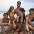 Multi-ethnic friends at beach — Stock Photo #52077367