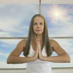 Asian woman practicing yoga — Stock Photo #52078059