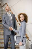 African businesspeople shaking hands — Stock Photo