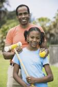 African father and daughter — Stock Photo