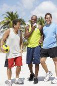 Multi-ethnic men in athletic gear — Stock Photo