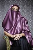 Middle Eastern woman wearing head scarf — Stock Photo