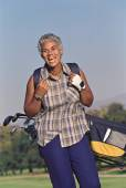 Senior African American woman — Stock Photo