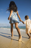 Pacific Islander sister and brother — Stock Photo