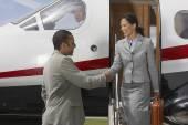 Multi-ethnic businesspeople shaking hands — Stock Photo