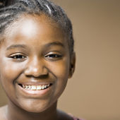 African girl smiling — Stock Photo
