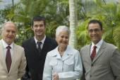Group of Hispanic businesspeople — Stock Photo