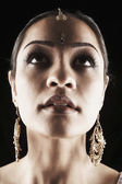 Indian woman in traditional jewelry — Foto de Stock