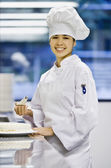 Asian female pastry chef 1 — Stock Photo
