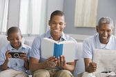 """""""African American grandfather, father and son relaxing"""" — Stock Photo"""