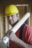 Mixed Race male construction worker — Stock Photo