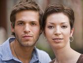 Portrait of young Hispanic couple — Stock Photo