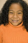 Pacific Islander girl with curly hair — Stock Photo