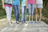 Hispanic teenaged girls — Stock Photo