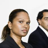 Mixed Race businesswoman — Stock Photo