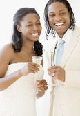 African bride and groom — Stock Photo