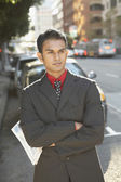 Indian businessman with arms crossed — Stock Photo