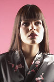 Middle Eastern woman with bangs — Stock Photo