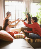 Group of friends toasting — Stock Photo