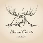 Forest camp logo — Stockvektor