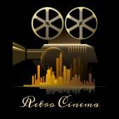 Cinema poster — Stock Vector
