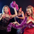 Young people dancing at disco and having fun, Karaoke — Stock Photo #58807415
