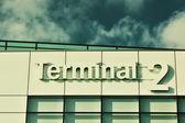 Airport interier. Terminal 2 — Stockfoto