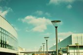 Airport interier. Outdoors beauty  — Stock Photo