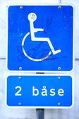 Sign for diabled — Stockfoto