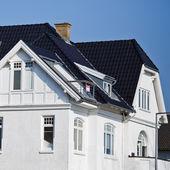 Elegant facade of a danish house  — Stock Photo