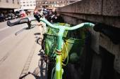 Colourful bicycle  — Stock Photo