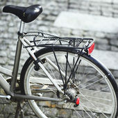 Bicycle in the city  — Stock Photo