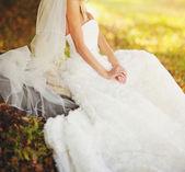 Beautiful white dress — Stock fotografie