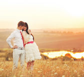Couple dancing in the sunset  — Stockfoto