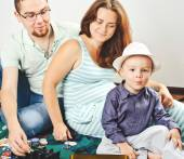 Father mother and son — Stock Photo